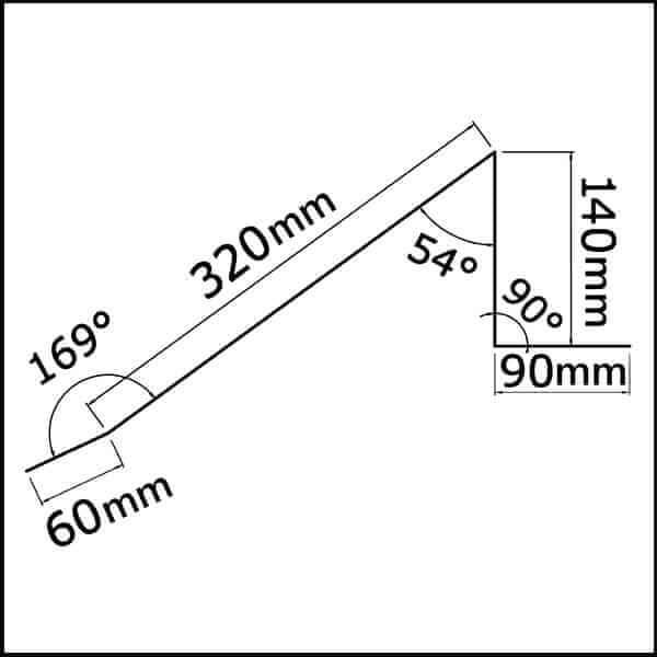 Faitière ventilée en bac acier 3ml laquée 25µ
