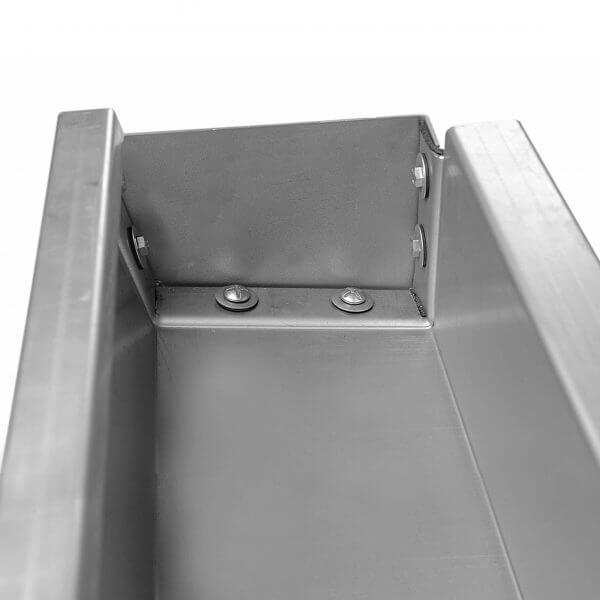 Chéneau de toiture à emboîter innovant galvanisé