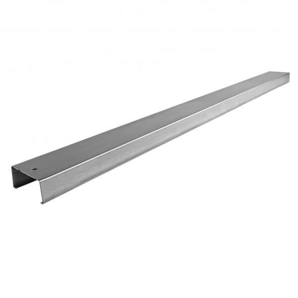 Lisse de bardage métallique C140 mm pré-percée galvanisée