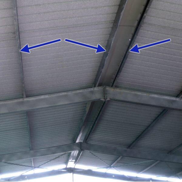 Panne de toiture C180 mm galvanisée