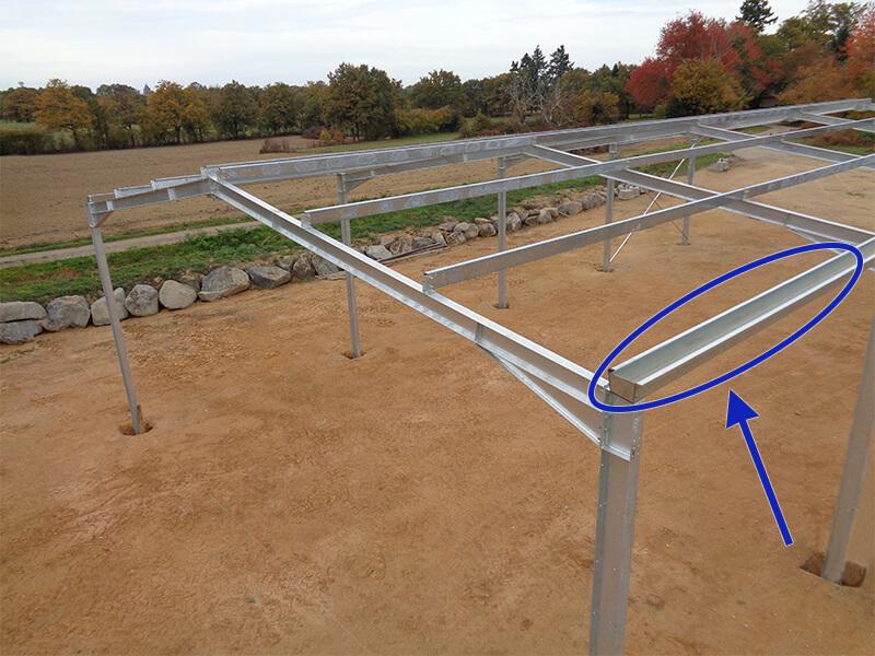 Chéneau de toiture embouti innovant galvanisé   Toles Moins Cheres